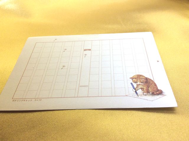 ポタリングキャットミニ原稿用紙トラ猫全体の画像