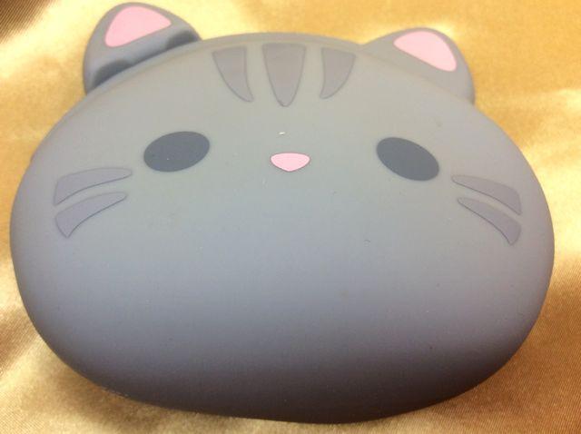 がま口タイプシリコンコインケースグレー猫の画ぞ