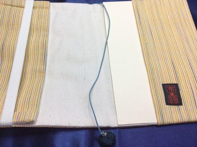 ドン・ヒラノさんの文庫本用和風三毛猫ブックカバーの内側の画像