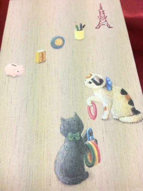 POTTERING CATのポチ袋Aのクローズアップ画像