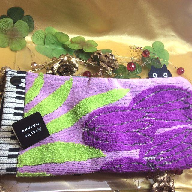 マタノアツコロングポシェチーフ紫の全体の画像