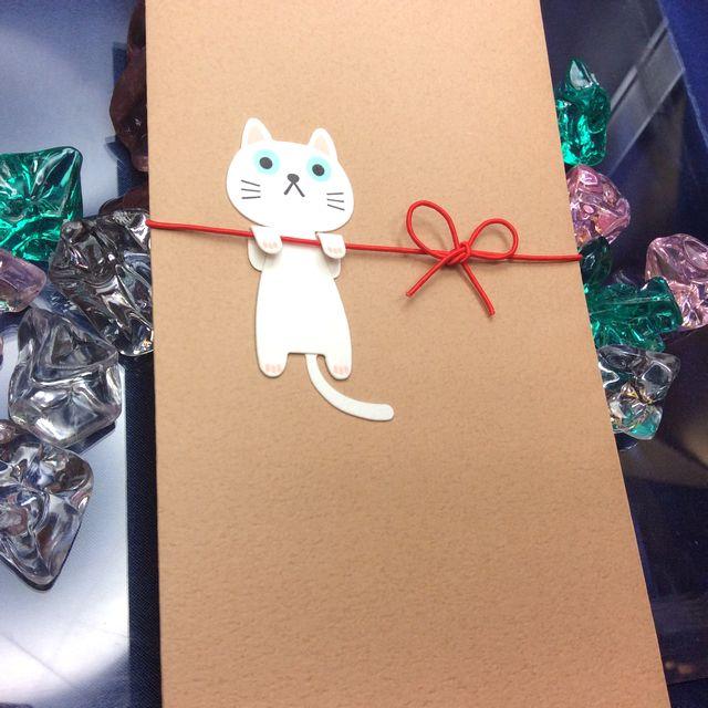 白猫ご祝儀袋「いいねこの袋」の全体画像