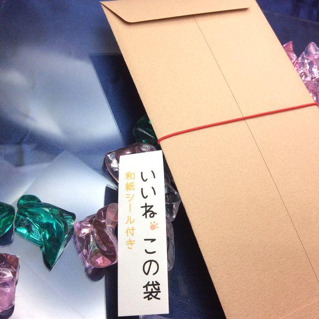 白猫ご祝儀袋「いいねこの袋」の裏側の画像