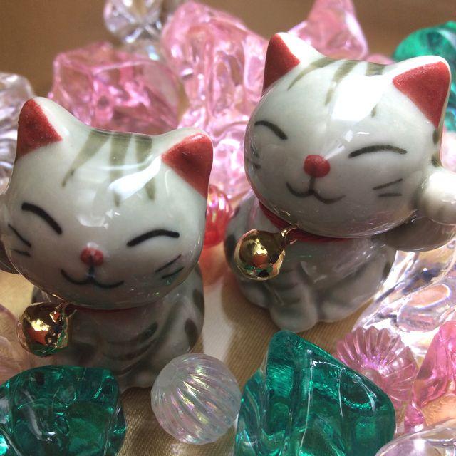手作り招き猫の置物グレートラ猫の画像
