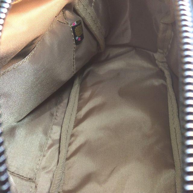 猫のプーちゃんショルダーバッグのファスナーを開けた状態の内側画像