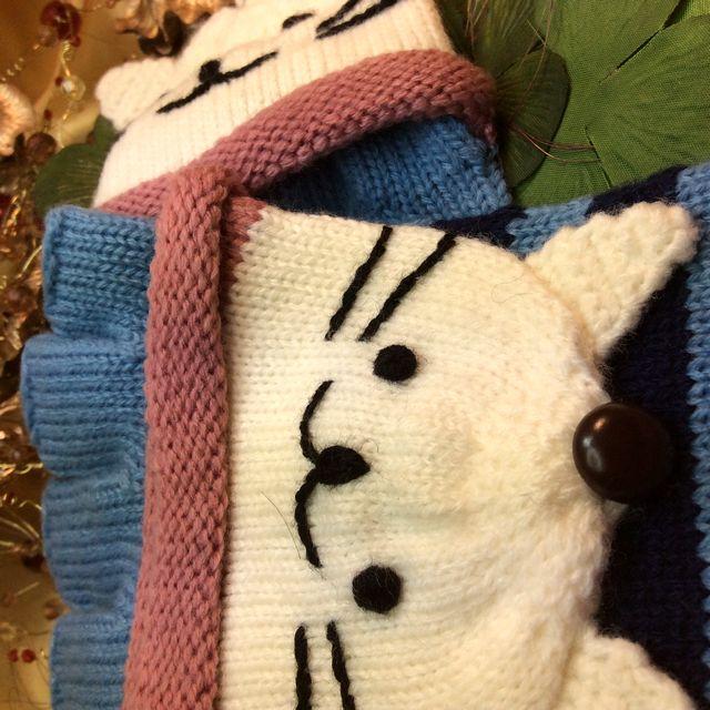 カオニャン手袋の手の甲を入れる部分のクローズアップ画像