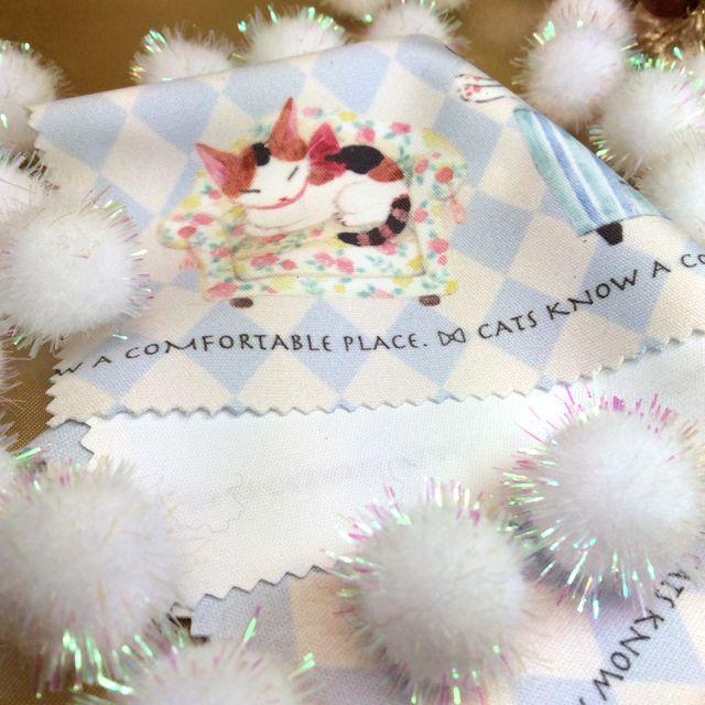 仲田愛美先生の描くリボンキャットのメガネ拭き三毛猫のクローズアップ画像