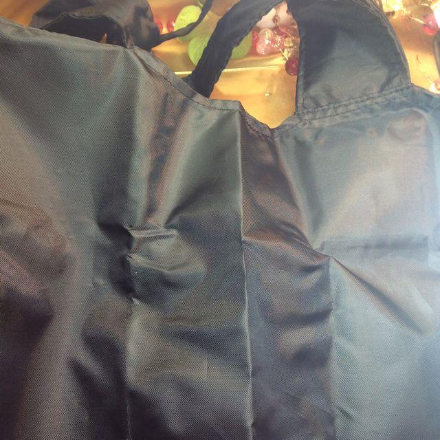 なごみ猫収納袋付き黒猫エコバッグの裏側全体の画像