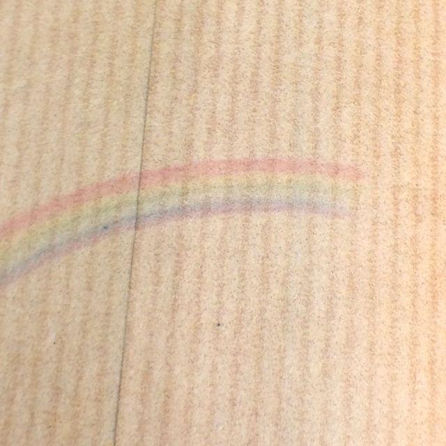 ポタリングキャットさんの猫の茶封筒12枚入り虹の裏側のクローズアップ画像