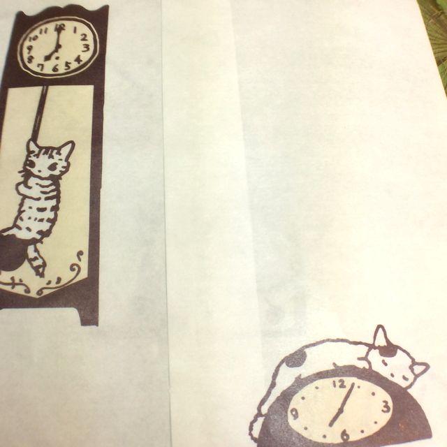 ポタリングキャットさんの白封筒4枚組の時計封筒の裏の画像