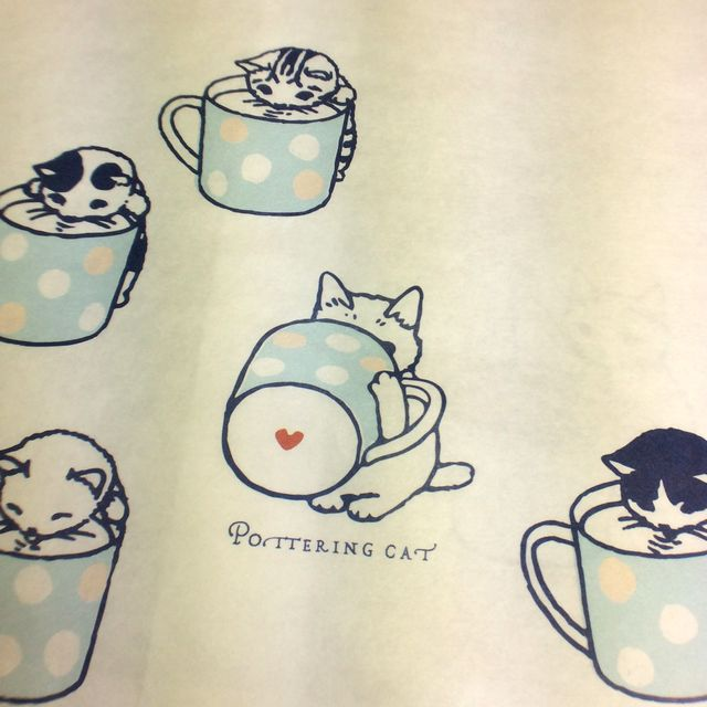 ポタリングキャットさんの白封筒4枚組のカップの画像