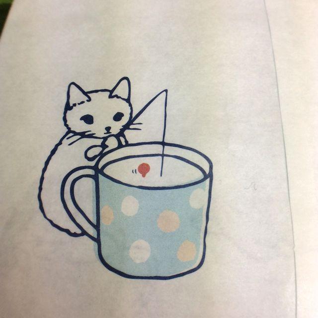 ポタリングキャットさんの白封筒4枚組のカップの裏側の画像