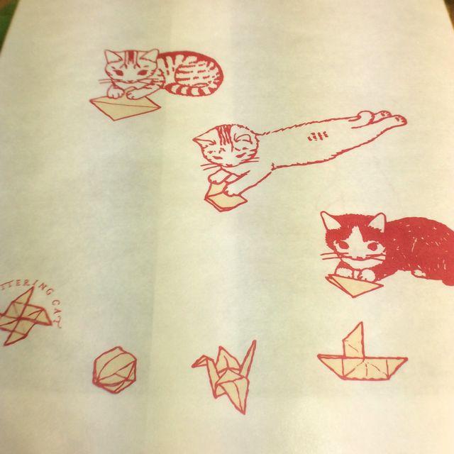 ポタリングキャットさんの白封筒4枚組折り紙の画像