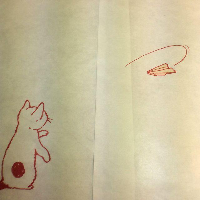 ポタリングキャットさんの白封筒4枚組折り紙の裏側の画像