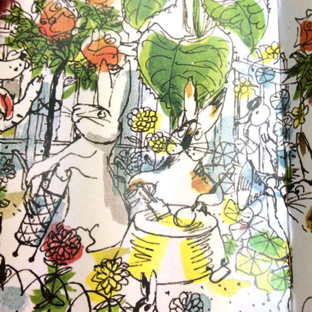 こねこのぴっち縫いぐるみの箱の絵ウサギの画像
