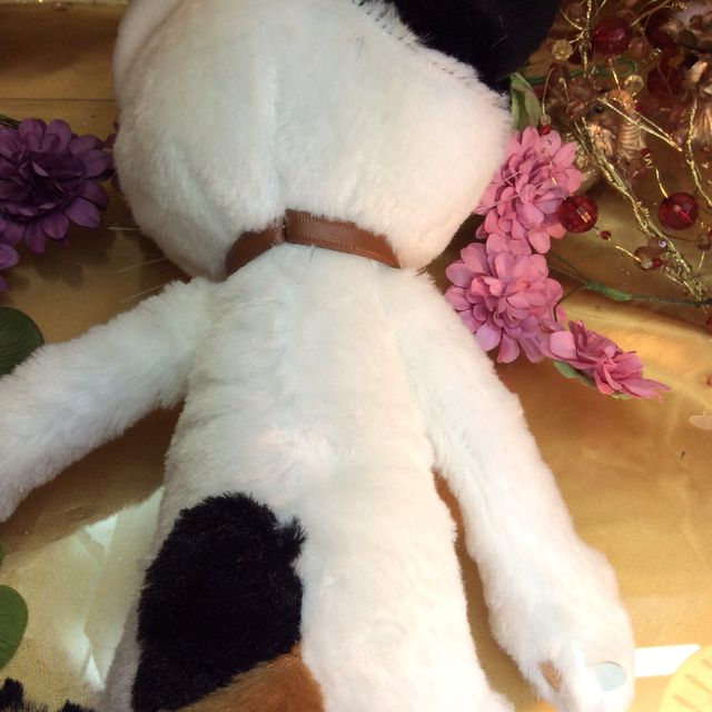 猫のスクラッチの縫いぐるみミルク後ろ姿の画像
