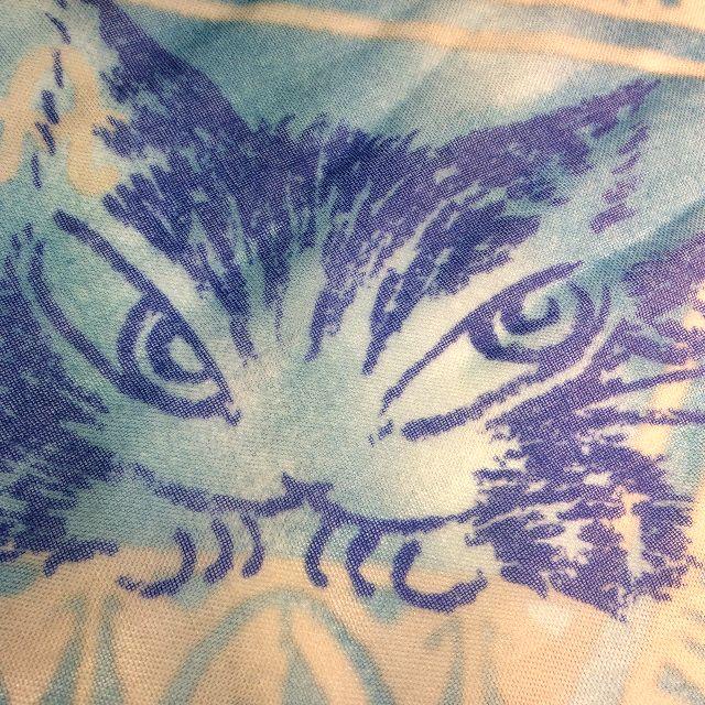 池田あきこ先生のわちふぃーるど社のダヤンのアートプリントストールアンダルシアのブルーの部分のクローズアップ画像