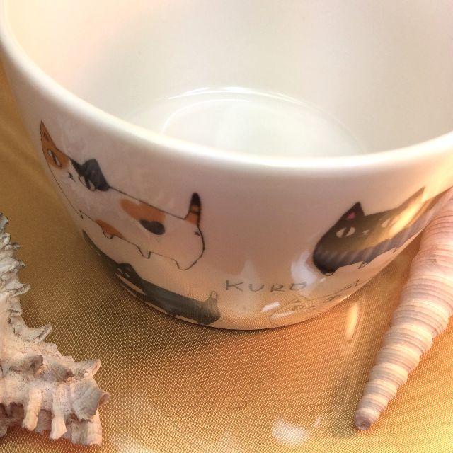 猫3兄弟パック小鉢の本体の柄アップ写真