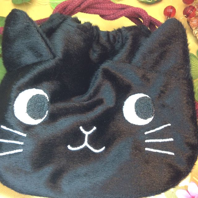もりまさこ先生の巾着黒猫全体の写真