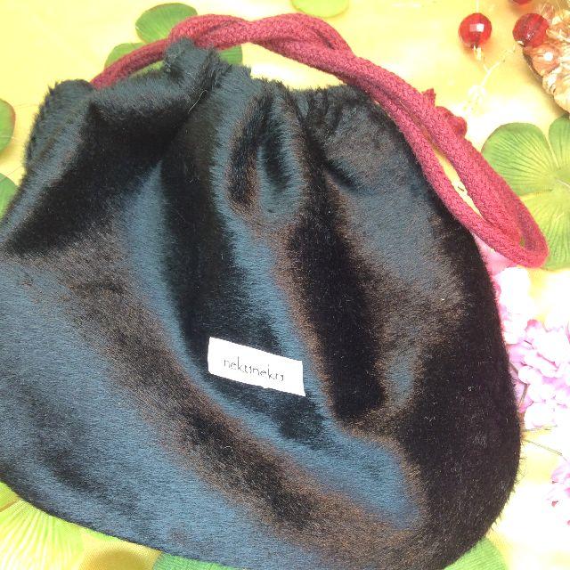 もりまさこ先生の巾着黒猫の裏側の全体写真