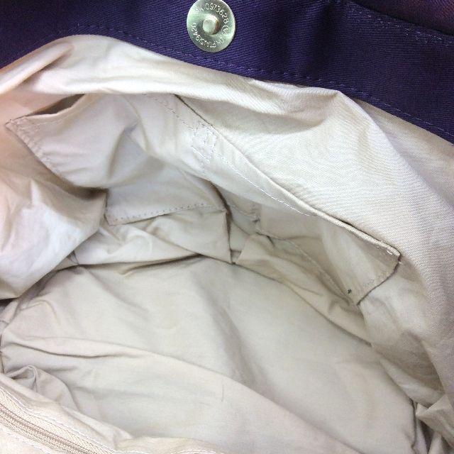 ルートートアニマル猫バッグパープルの内ポケット部分アップ写真