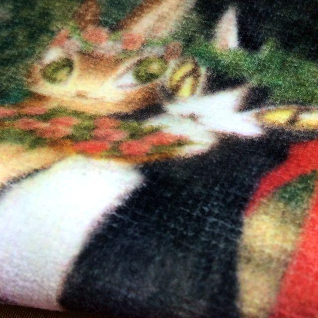 池田あきこ先生のわちふぃーるどダヤンのタオルハンカチ夏至祭りのマーシイ部分アップ写真
