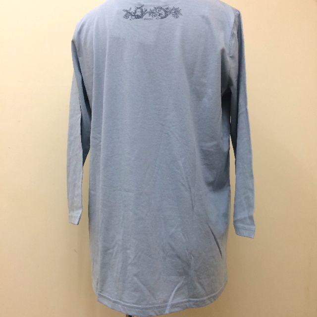 猫のダヤンのクルーネック7分袖Tシャツ「GOLDEN HARVEST」柄の背面側画像