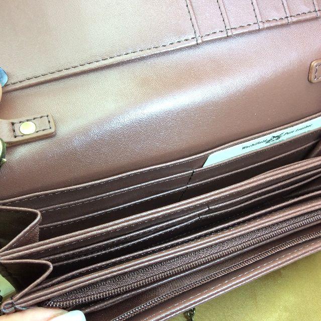 ダヤンチェーン付き長財布お菓子BABYの内側の画像