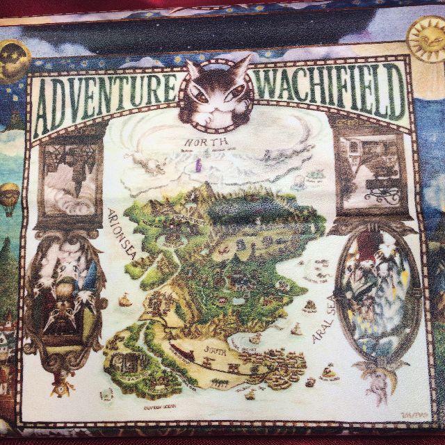 ダヤンの折り畳みメガネケース「冒険地図」の背面と底面の画像