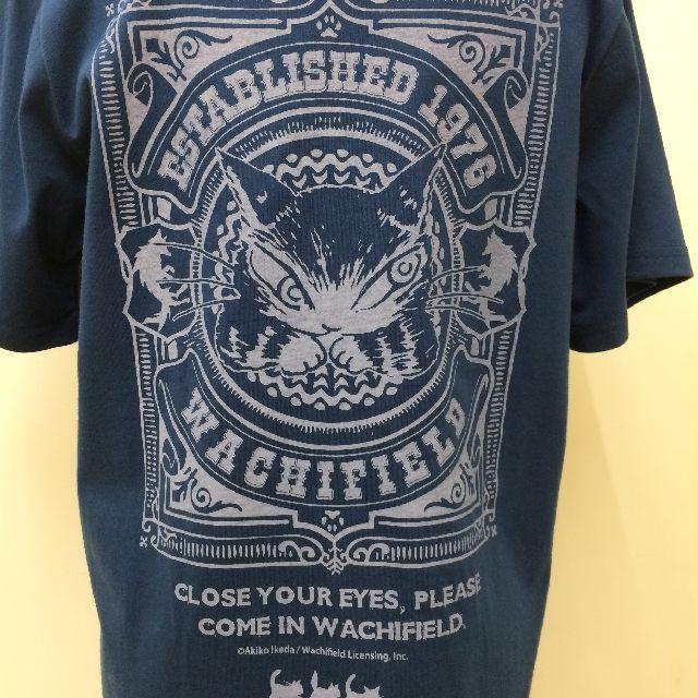 猫のダヤンの半袖Tシャツ「ロゴ神」柄の背面側の絵柄画像