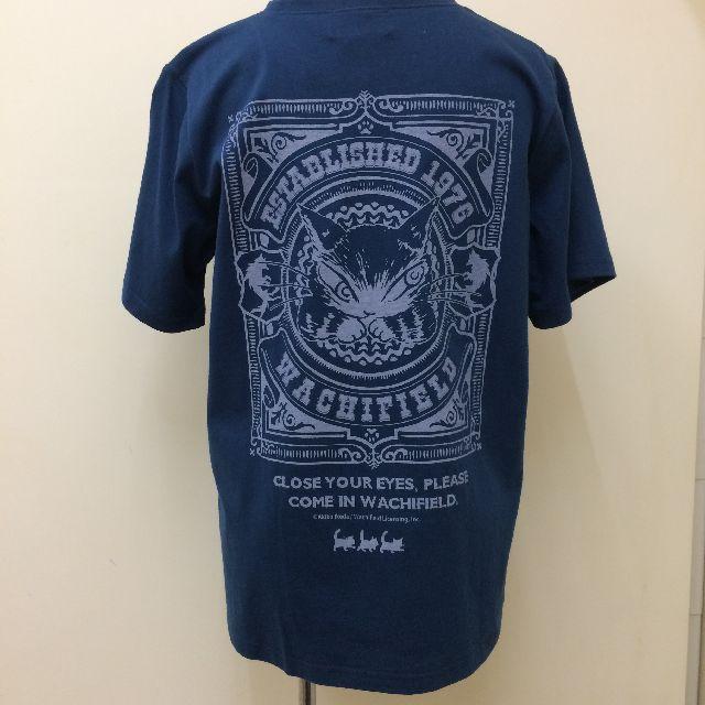 猫のダヤンの半袖Tシャツ「ロゴ神」柄の後ろ側の全体画像