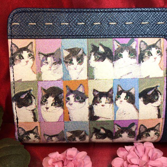 マンハッタナーズ二つ折り財布の背面の全体画像