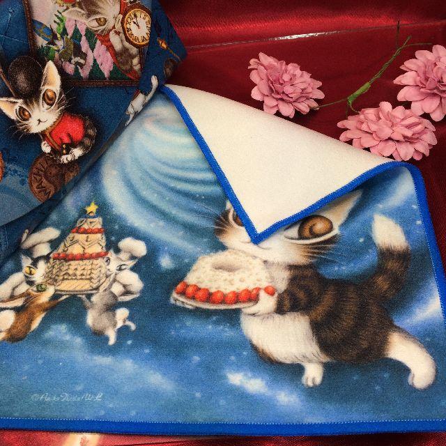 ダヤンのメガネ拭き「青い星のケーキ」の裏側画像