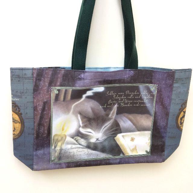 猫のダヤンのラミネートレッスンバッグ音楽会の後ろ側の画像