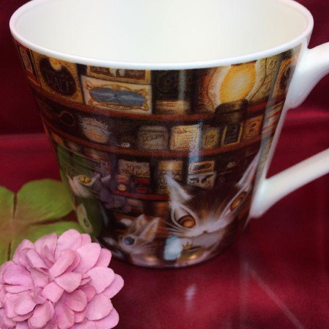 ダヤンの軽量マグカップ「グロッサリー」の、背面側の画像