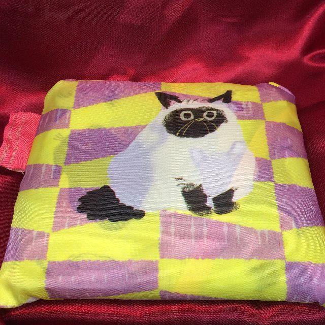 プレーリードッグのももろのエコバッグ「猫まみれ」を畳んだ背面側画像
