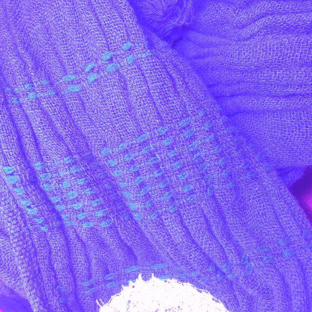 猫のダヤンのクールタオルマフラー「お星様」柄の裏側の生地の画像