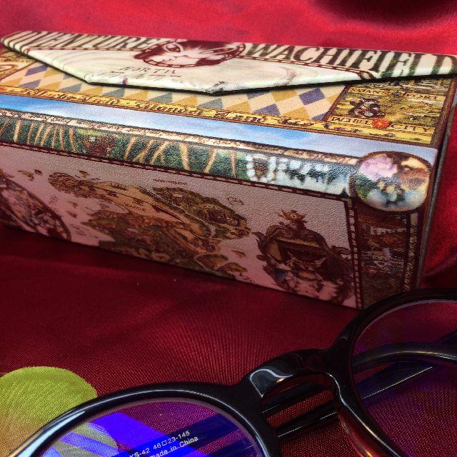 ダヤンのメガネケース「冒険地図」の底面の画像