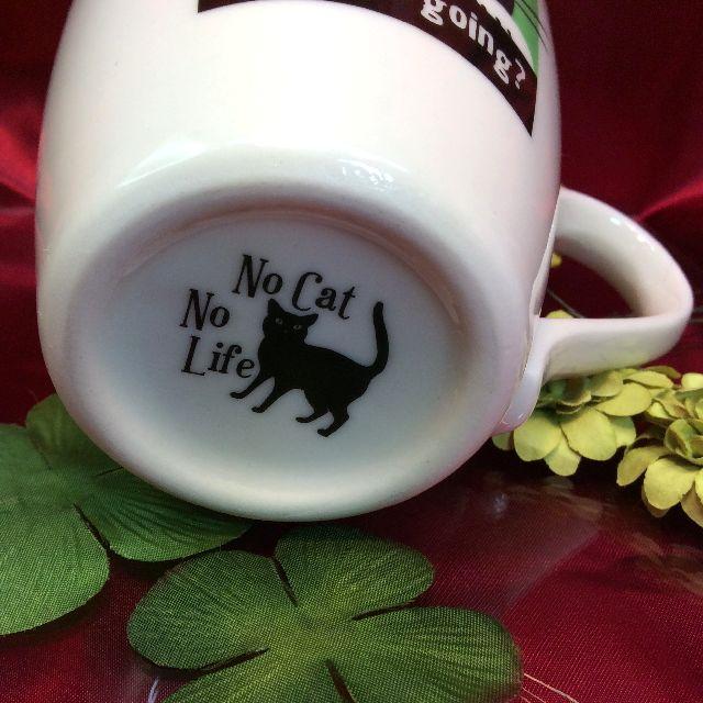 色が変わる猫のマグカップの底のイラストの画像