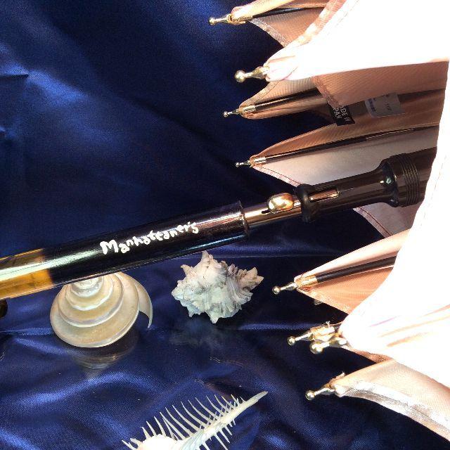 マンハッタナーズジャンプ長傘スペインの詩の持ち手部分のクローズアップ画像