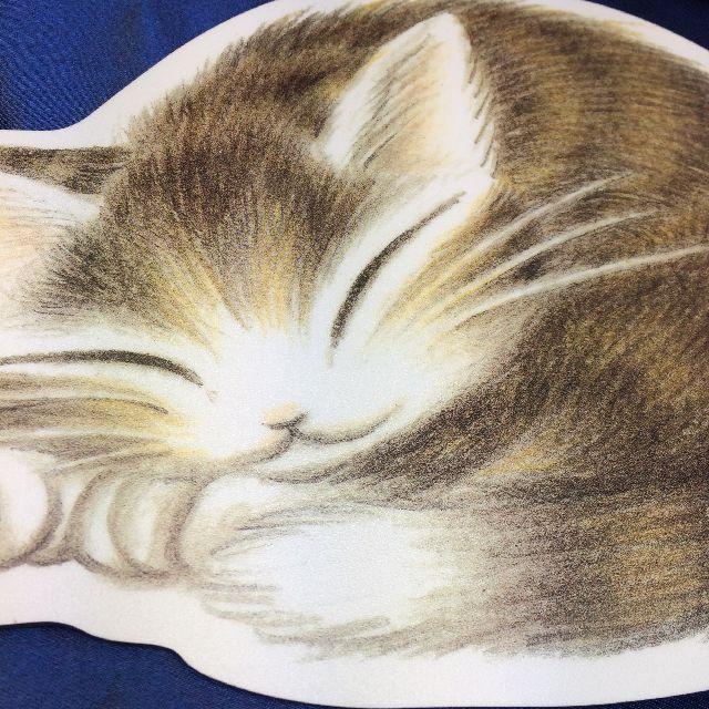 猫のダヤンのマウスパッド「丸猫」柄のクローズアップ画像