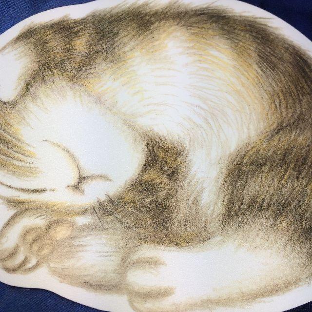 猫のダヤンのマウスパッド「寝返り」柄のクローズアップ画像