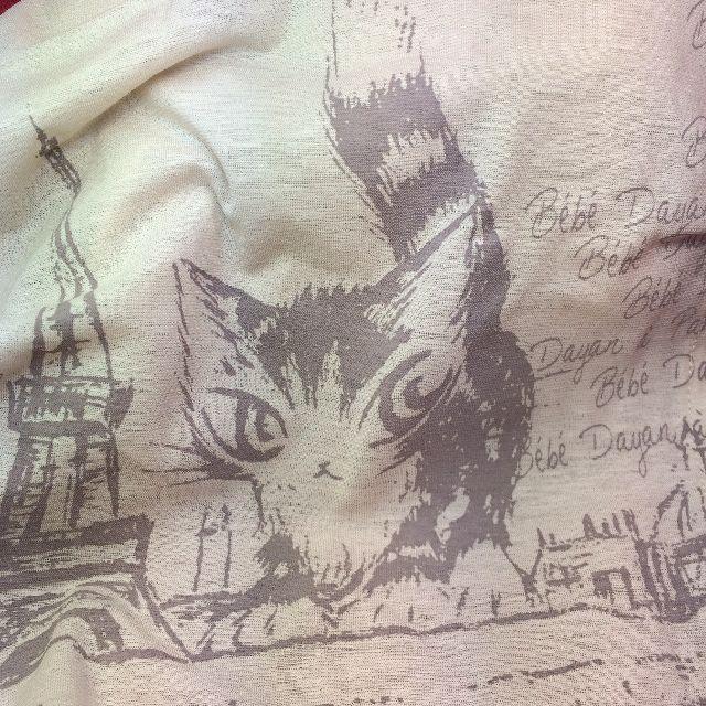 猫のダヤンのスカーフ「エッフェル」柄の絵柄のクローズアップ画像