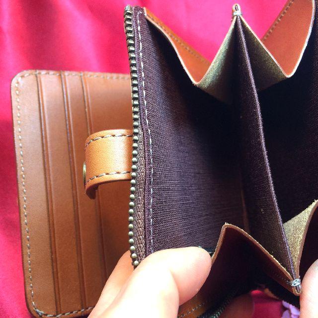 ダヤンの二つ折り革財布DB4の内側の小銭入れ部分の画像
