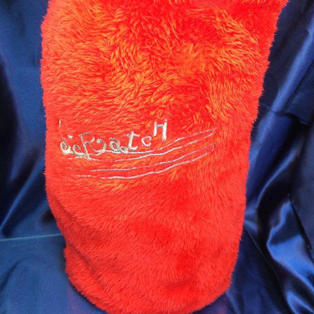 猫のスクラッチのリバーシブルブランケットに付属の巾着の画像