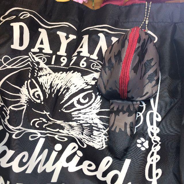 エコネコダヤンしっぽトートバッグにポーチを付けた画像