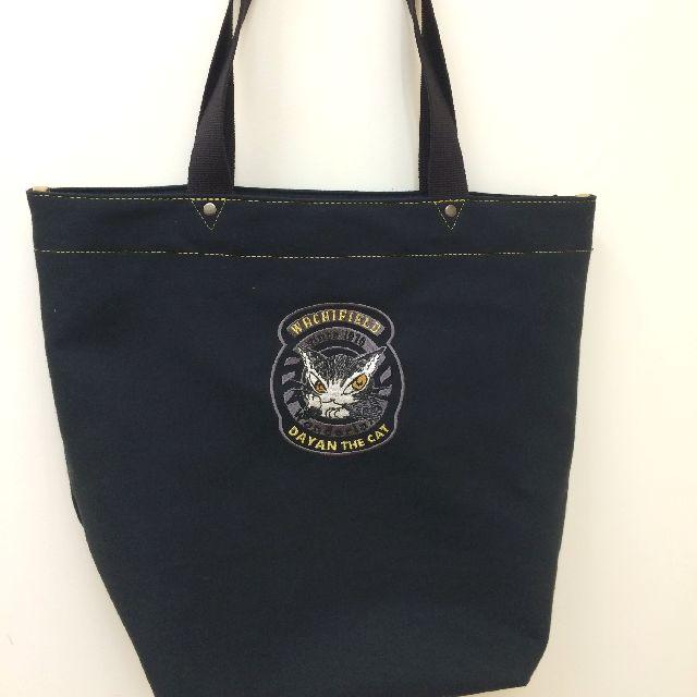 ダヤンの刺繍ロゴトートバッグの表面の全体画像