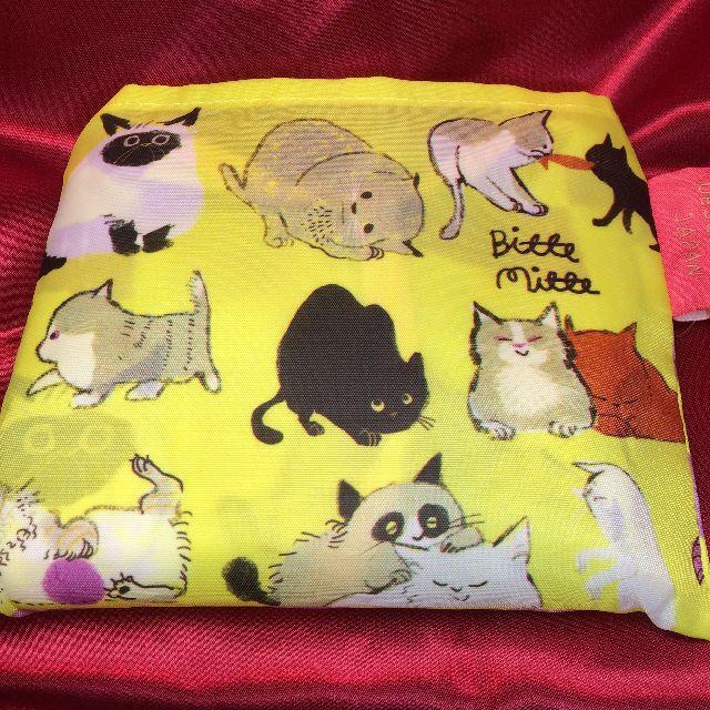 プレーリードッグのももろのエコバッグ「猫まみれ」を畳んだ表側画像