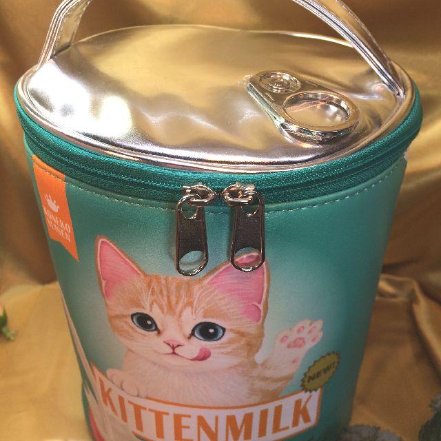 フェリシモ猫部のバニティーポーチのダブルファスナーの画像