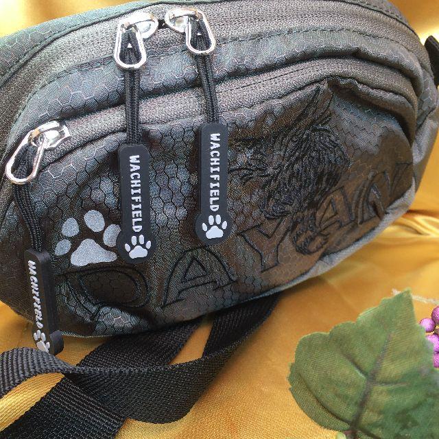 猫のダヤンのアウトドアポーチ「ふりむき」柄のオモテ面の全体画像